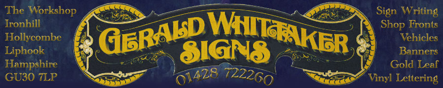 Gerald Whittaker Signs for traditional hand-lettered signage.