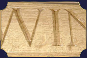 Wood carving for lettering and decoration